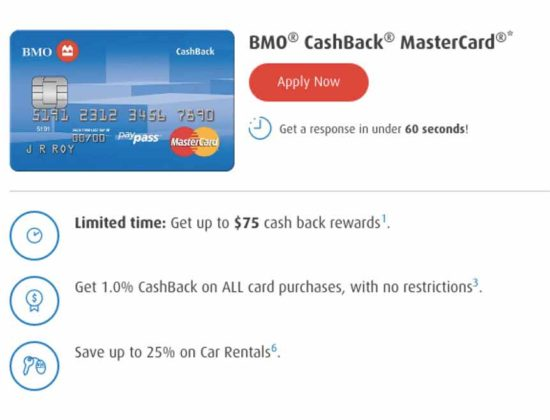 Mastercard call-to-action message example